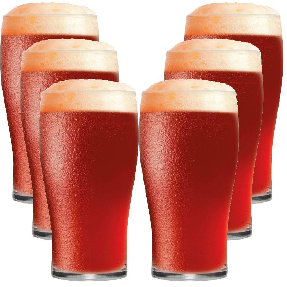 Jogo de Copo de Cerveja Meio Pint IPA 295ml 6 Peças