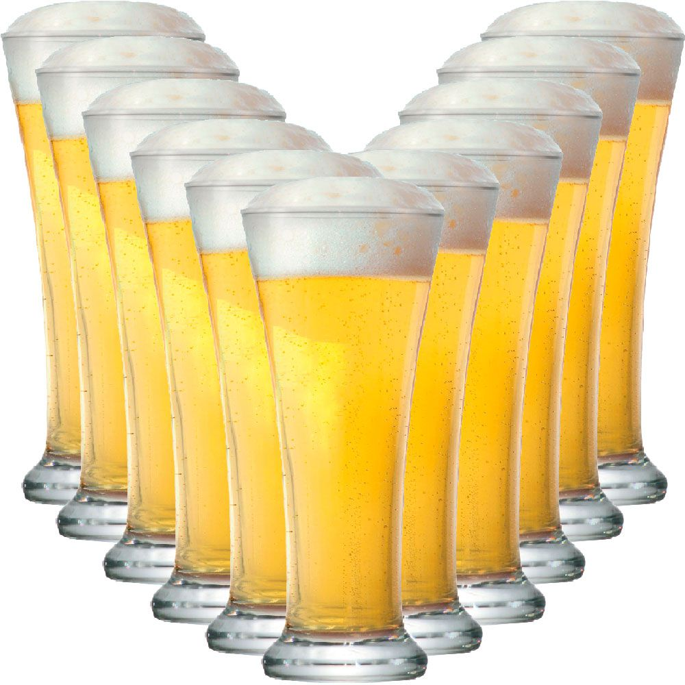 Jogo de Copo de Cerveja Pilsen 275ml 12 Peças