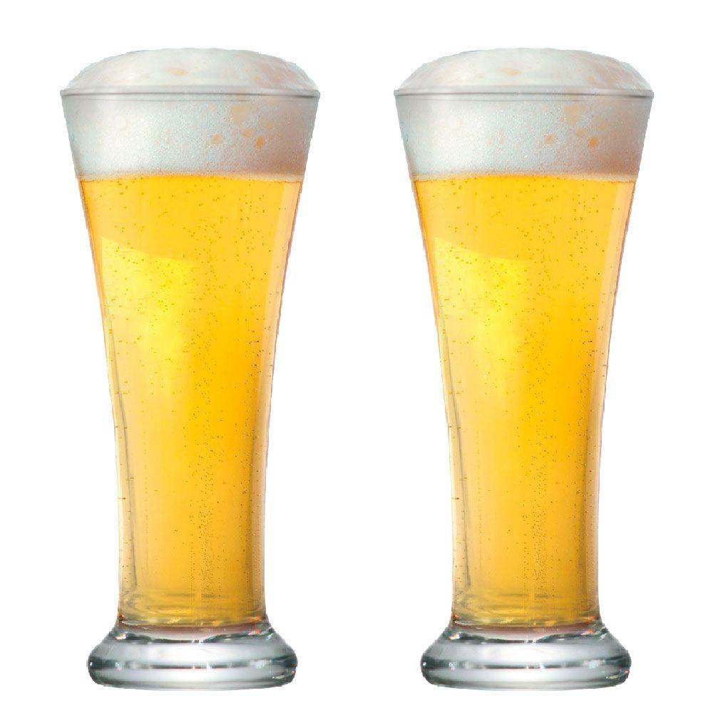 Jogo de Copo de Cerveja Pilsen 275ml 2 Peças