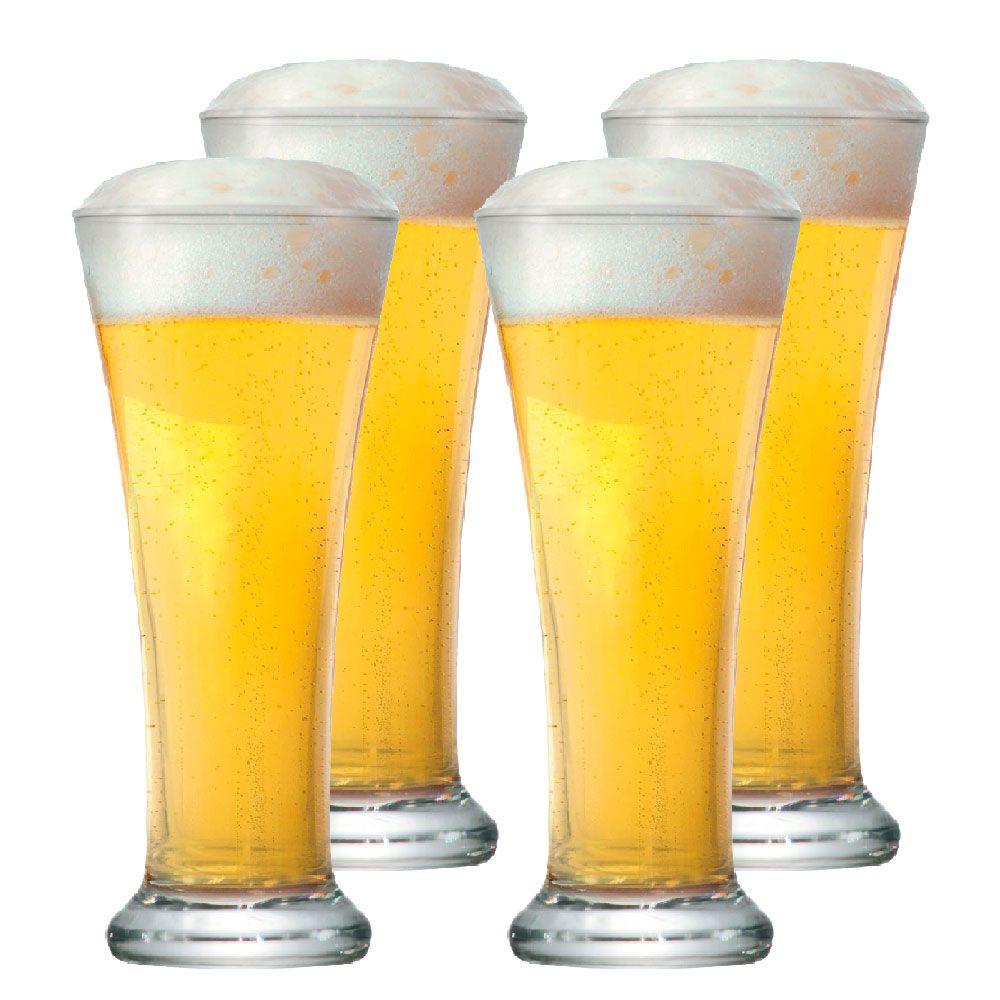 Jogo de Copo de Cerveja Pilsen 275ml 4 Peças