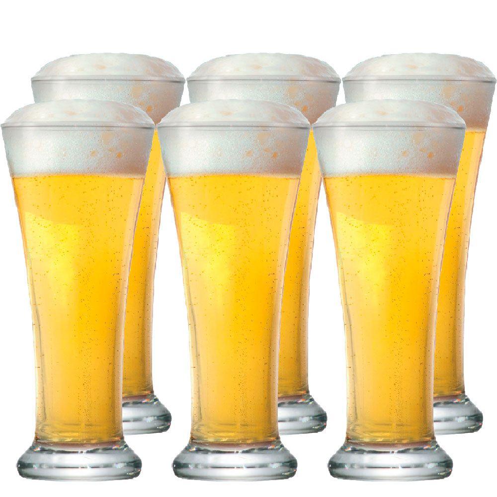 Jogo de Copo de Cerveja Pilsen 275ml 6 Peças
