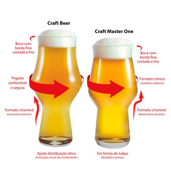 Jogo de Copos de Cerveja Craft Beer Ipa 495ml 12 pcs