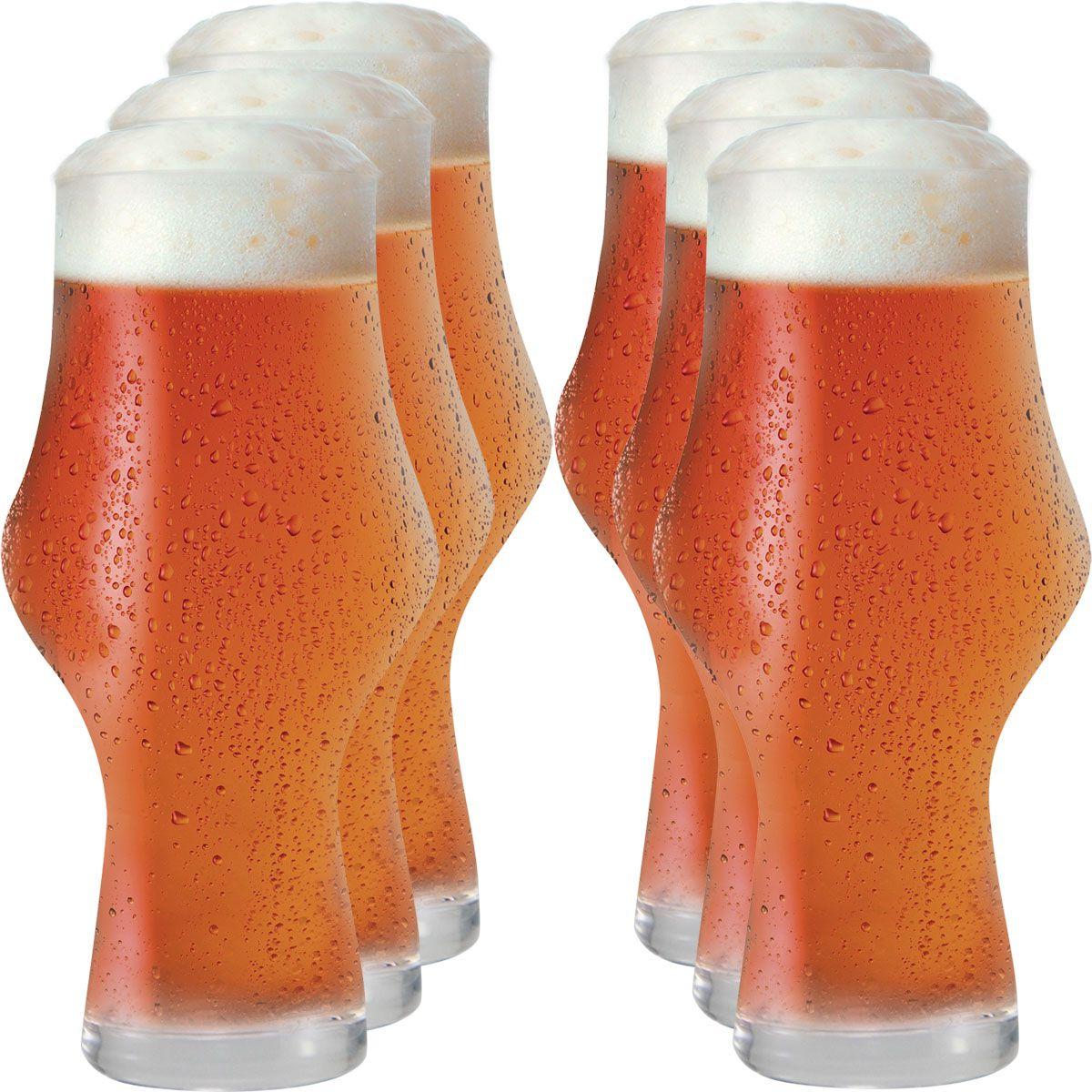 Jogo de Copos de Cerveja Craft Beer Ipa 495ml 6 pcs
