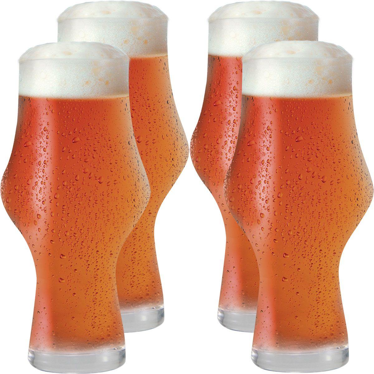 Jogo de Copos de Cerveja Craft Beer Ipa 495ml 4 pcs