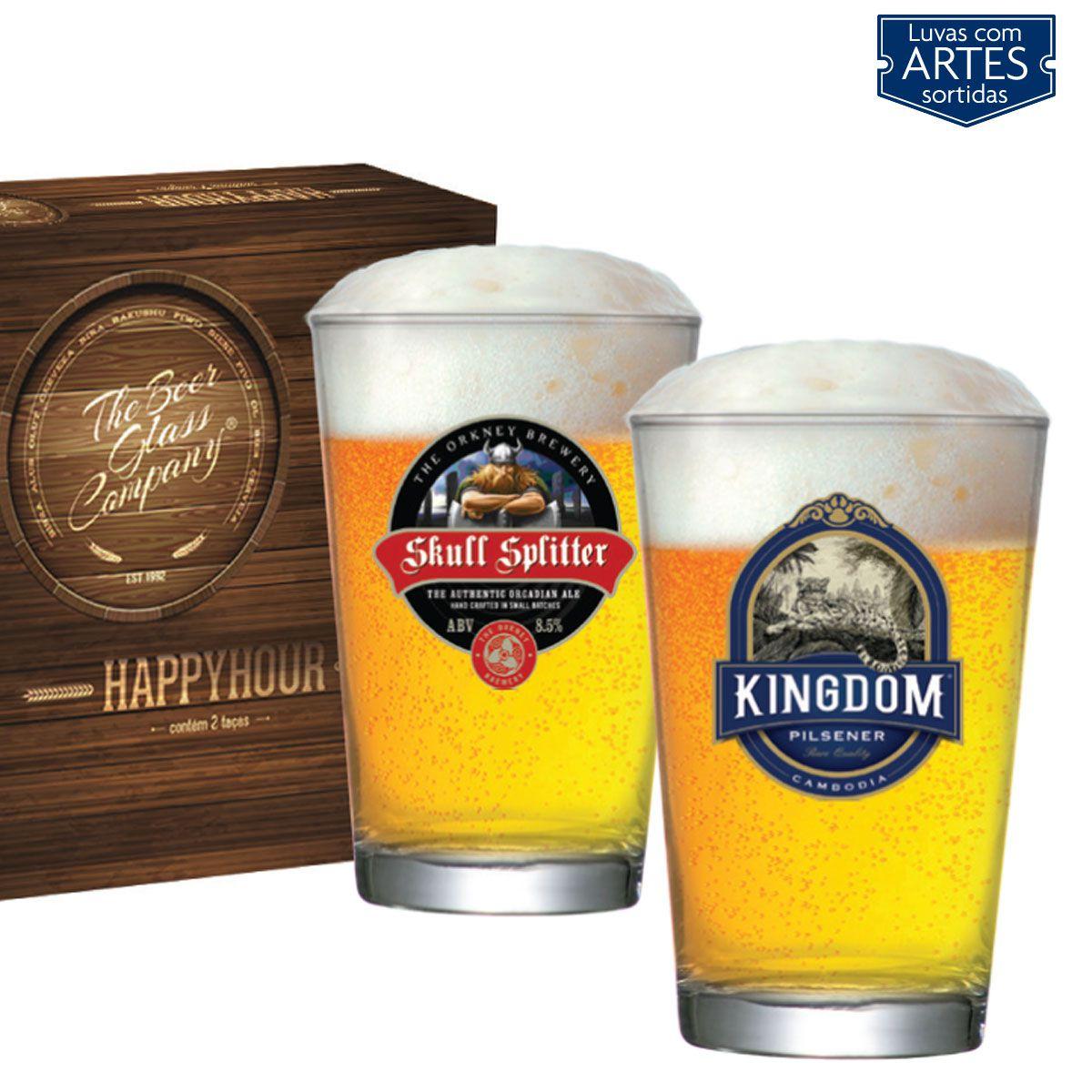 Jogo de Copos de Cerveja HH Caldereta 350 ml 2 Pcs