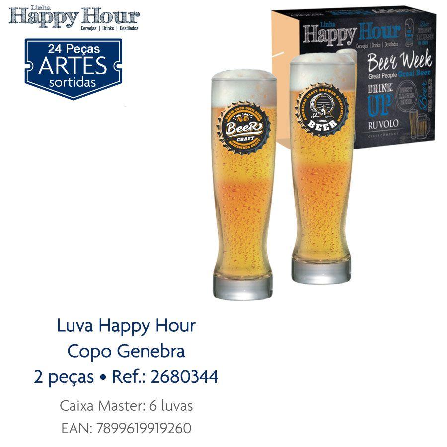 Jogo de Copos de Cerveja HH Genebra 400 ml 2 Pcs