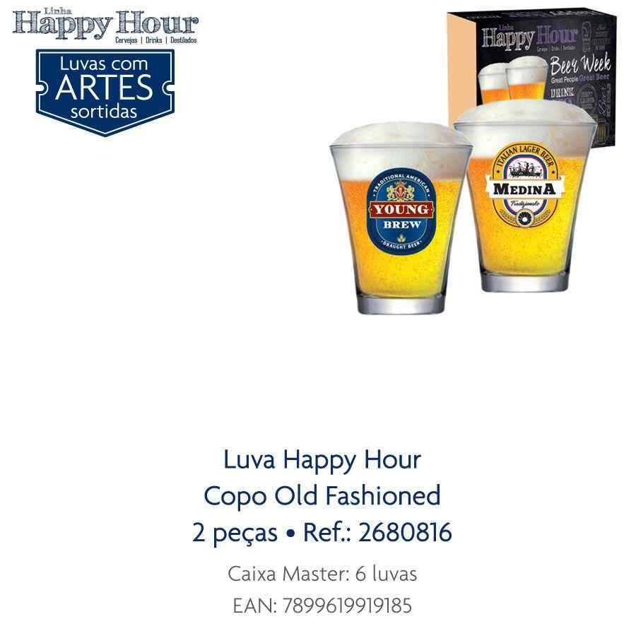 Jogo de Copos de Cerveja HH Old Fashioned 220 ml 2 Pcs