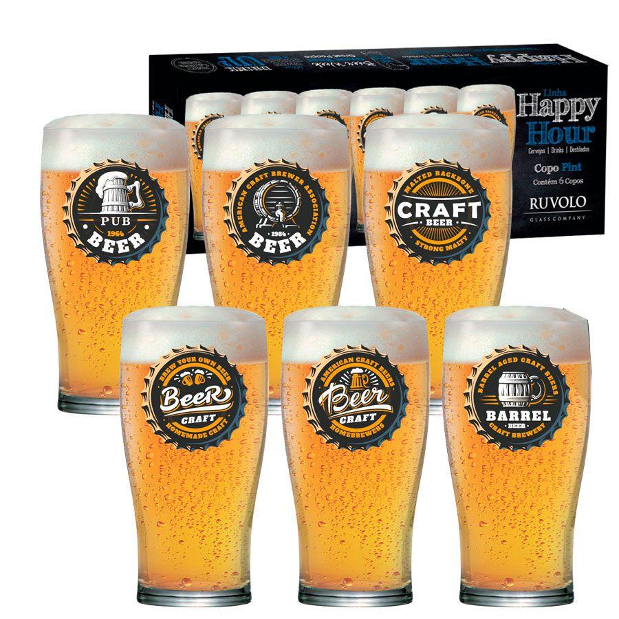 Jogo de Copos de Cerveja HH Pint 568ml 6 Pcs