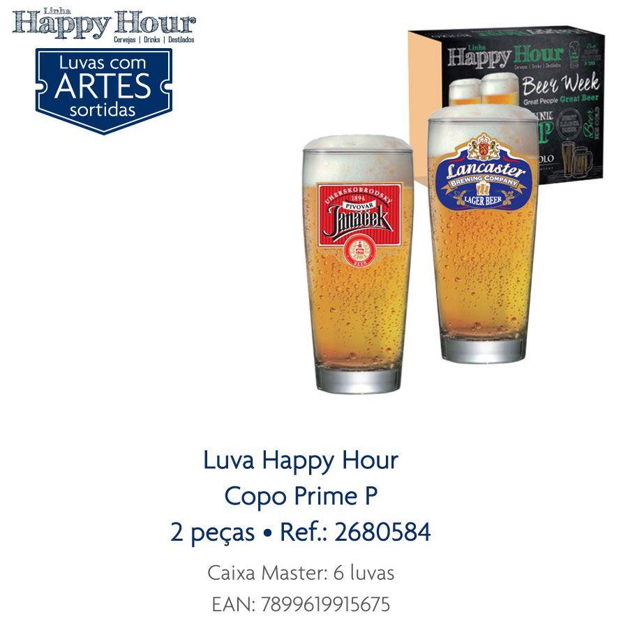 Jogo de Copos de Cerveja HH Prime P 200 ml 2 Pcs