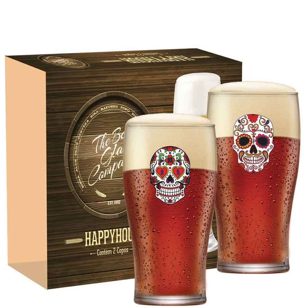 Jogo de Copos de Cerveja Mexican Style PINT IPA 595ml 2 Pcs