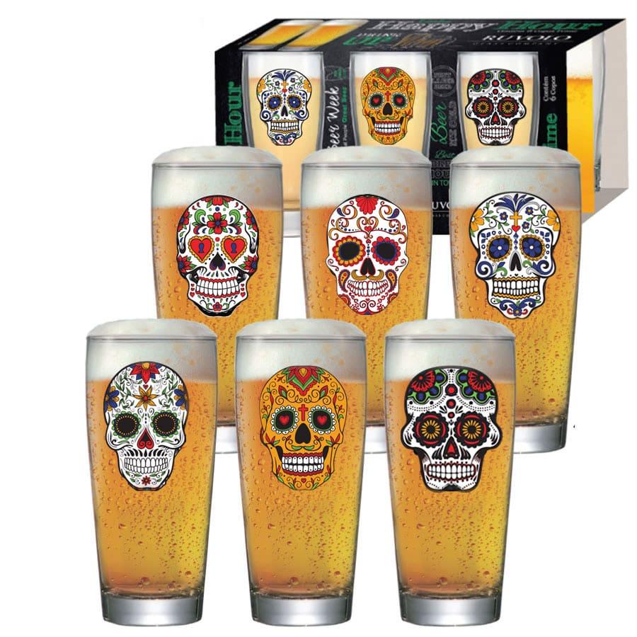 Jogo de Copos de Cerveja Mexican Style Prime M 300ml 6 Pcs