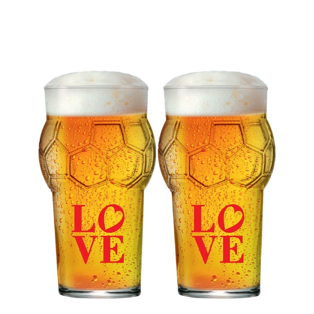Jogo de Copos de Cerveja Love Multiuso G 580ml 2 Pcs