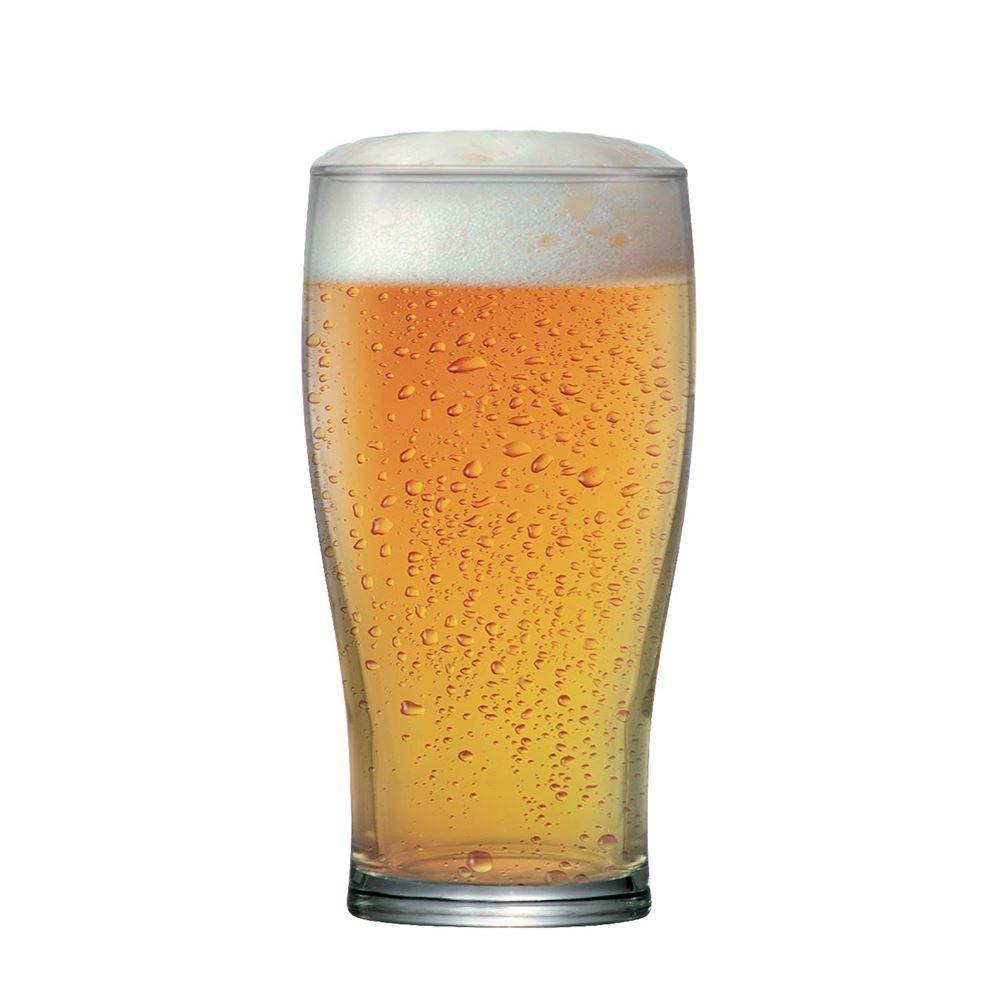 Jogo de Copos de Cerveja Pint Vidro 590ml 6 Pcs