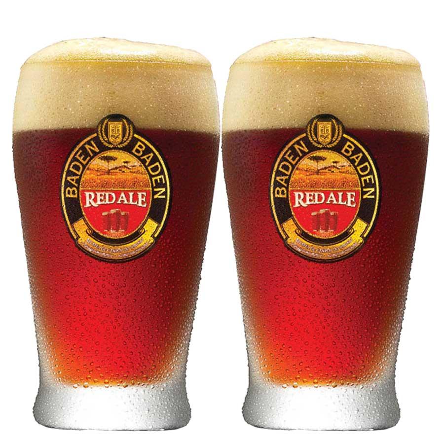 Jogo de Copos de Cerveja Vidro Baden Baden Red Ale 410ml 2 Pcs