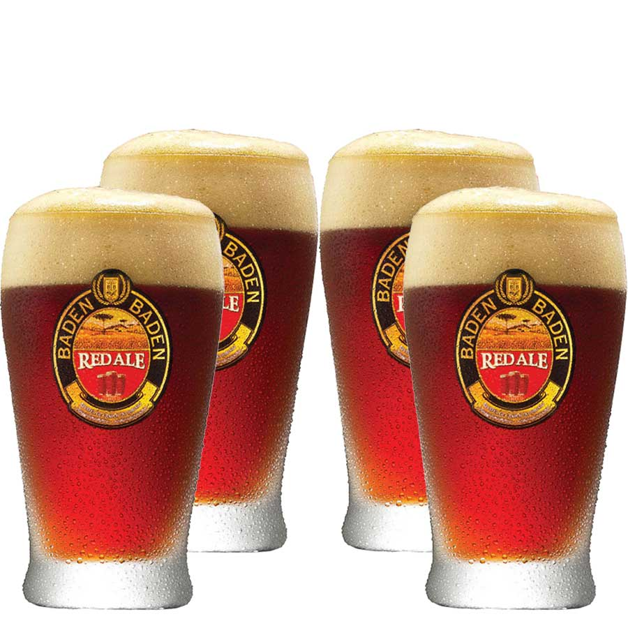 Jogo de Copos de Cerveja Vidro Baden Baden Red Ale 410ml 4 Pcs