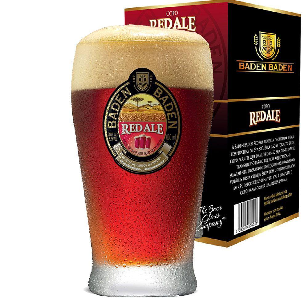 Jogo de Copos de Cerveja Vidro Baden Baden Red Ale 410ml 6 Pcs