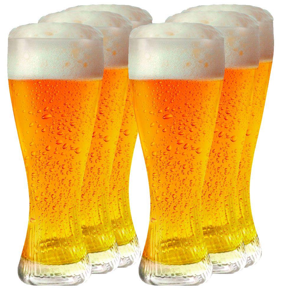 Jogo de Copos de Cerveja Vidro Phanteon M 440ml 6 Pcs