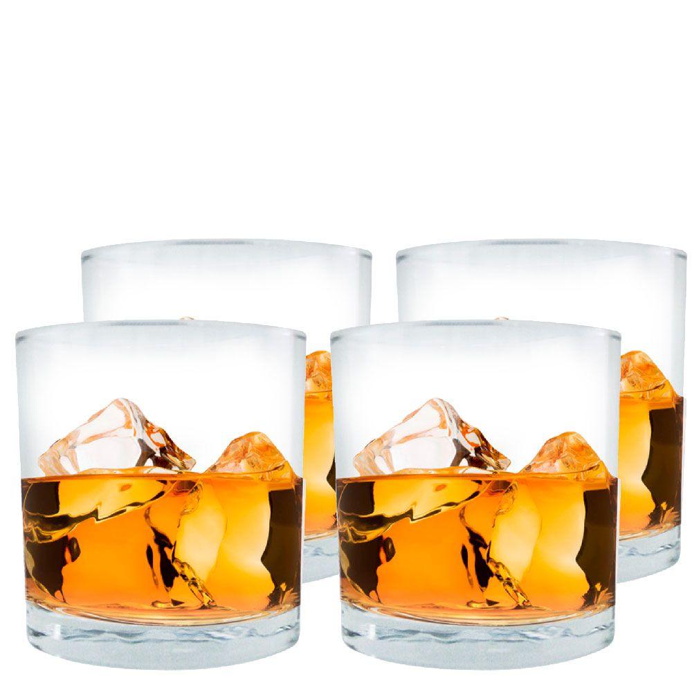 Jogo de Copos de Whisky Prestige On The Rocks 4 Pcs