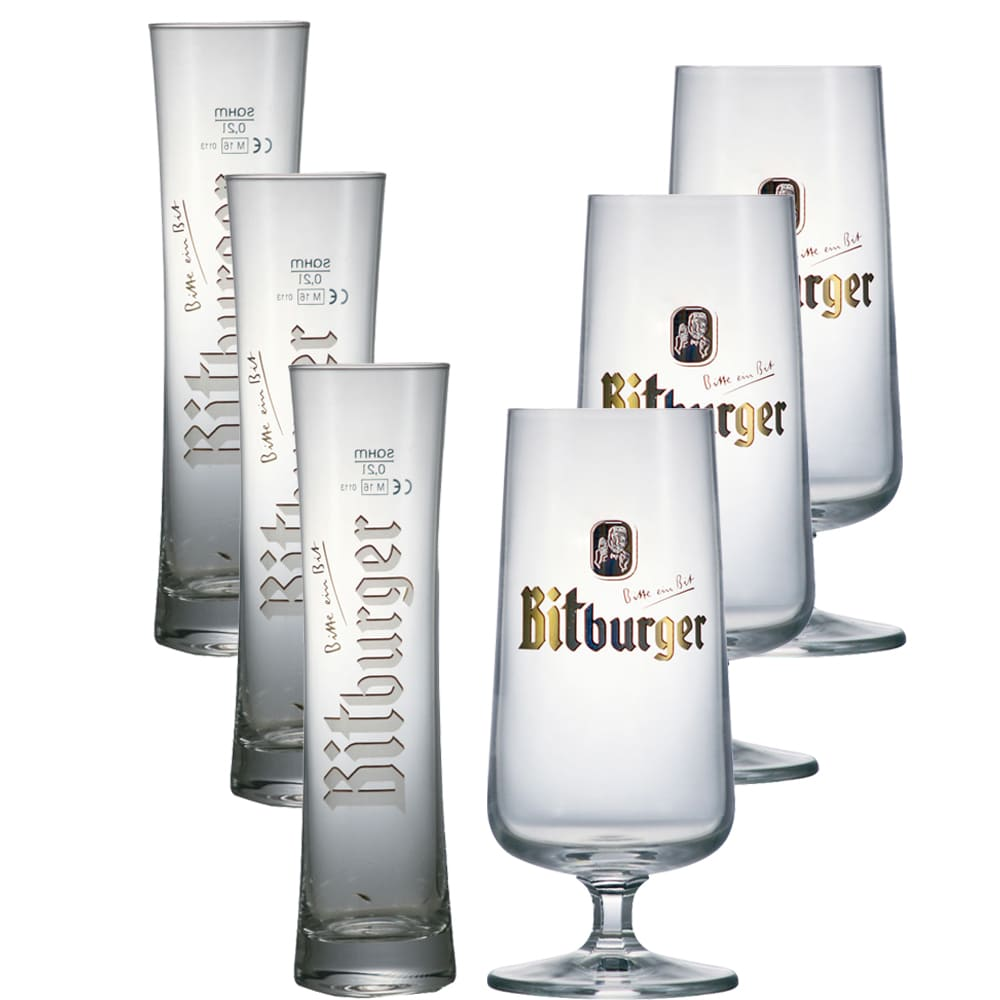 Jogo de Copos e Taças Cerveja BitBurger 6 pcs