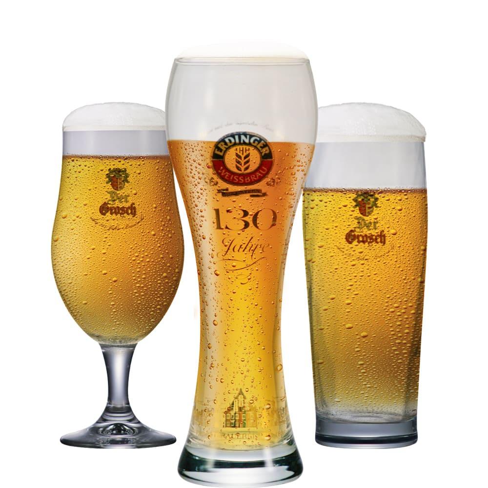 Jogo de Copos e Taças de Cerveja Coleção Cervejas do Mundo 3 pçs