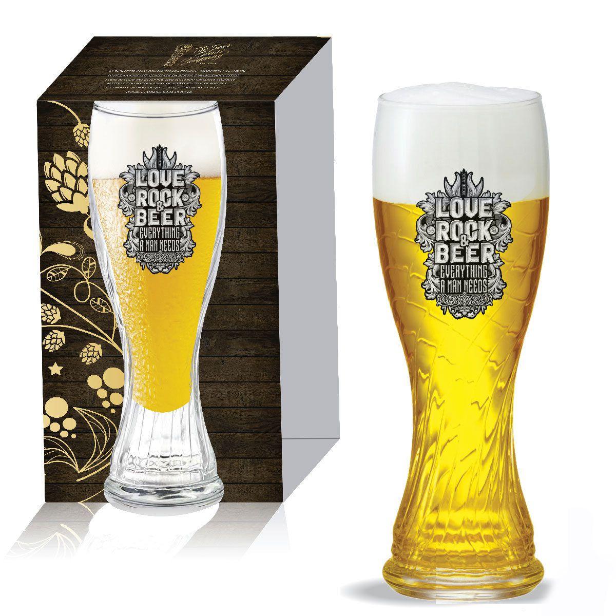 Jogo De Copos Vidro Weiss Schachen Torcido Cerveja 710ml
