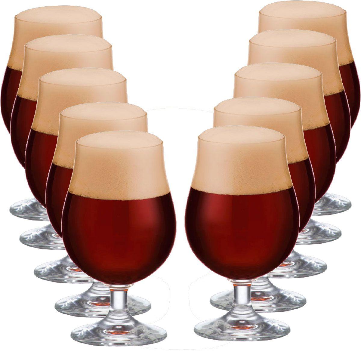 Jogo de Taça de Cerveja Bock Cristal 380ml 12 Pcs