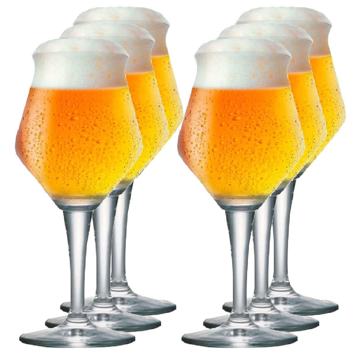 Jogo de Taça de Cerveja Crista Beer Sommelier Alta 430ml 6 Pcs
