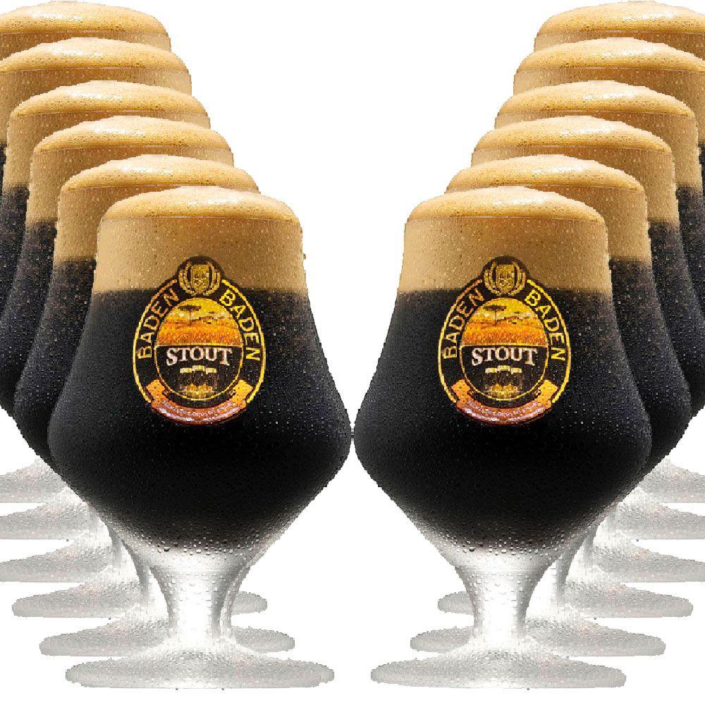 Jogo de Taça de Cerveja Cristal Baden Baden Stout 430ml 12 Pcs