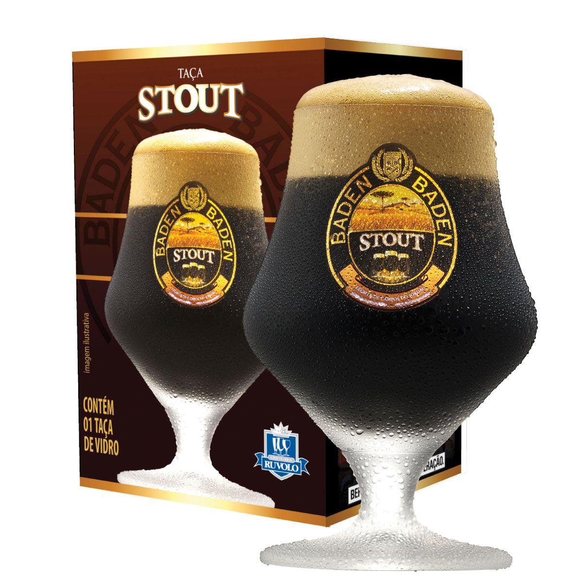Jogo de Taça de Cerveja Cristal Baden Baden Stout 430ml 2 Pcs