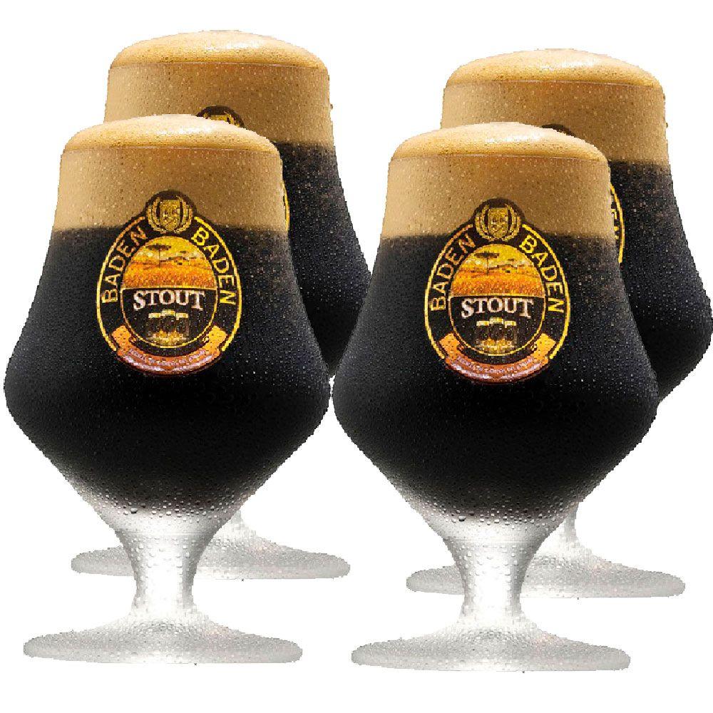 Jogo de Taça de Cerveja Cristal Baden Baden Stout 430ml 4 Pcs