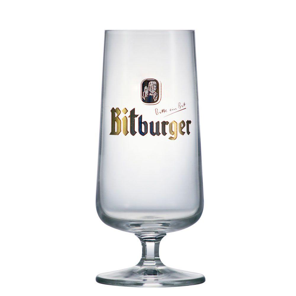 Jogo de Taça de Cerveja Cristal Snift Bitburger 370ml 4 Pcs