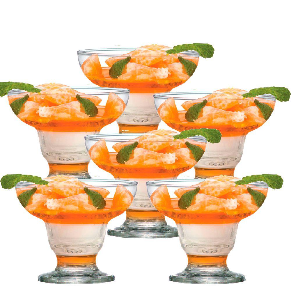 Jogo de Taça de Sobremesa Cancun 250ml 6 Pcs