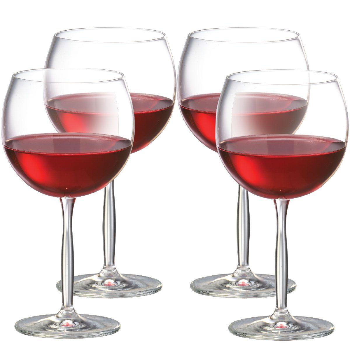 Jogo de Taça de Vinho Tinto Bordeaux Gran Cristal 550ml 4 Pcs