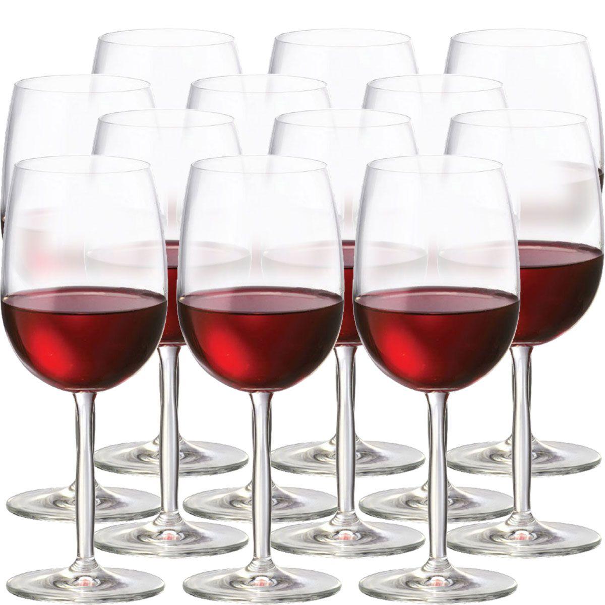 Jogo de Taça de Vinho Tinto Cristal Ritz 48ml 12 Pcs