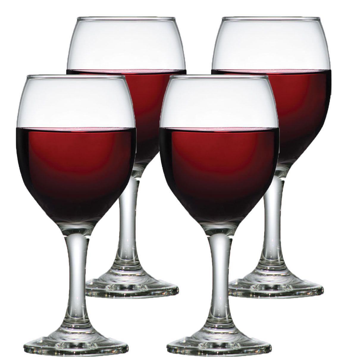 Jogo de Taça de Vinho Vidro Aspen 335ml 4 Pcs