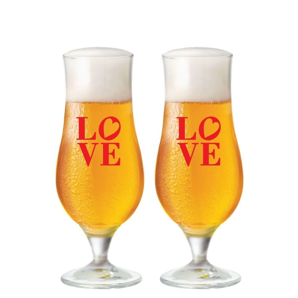 Jogo de Taça para Coquetel Vidro I love Beer 2 pcs