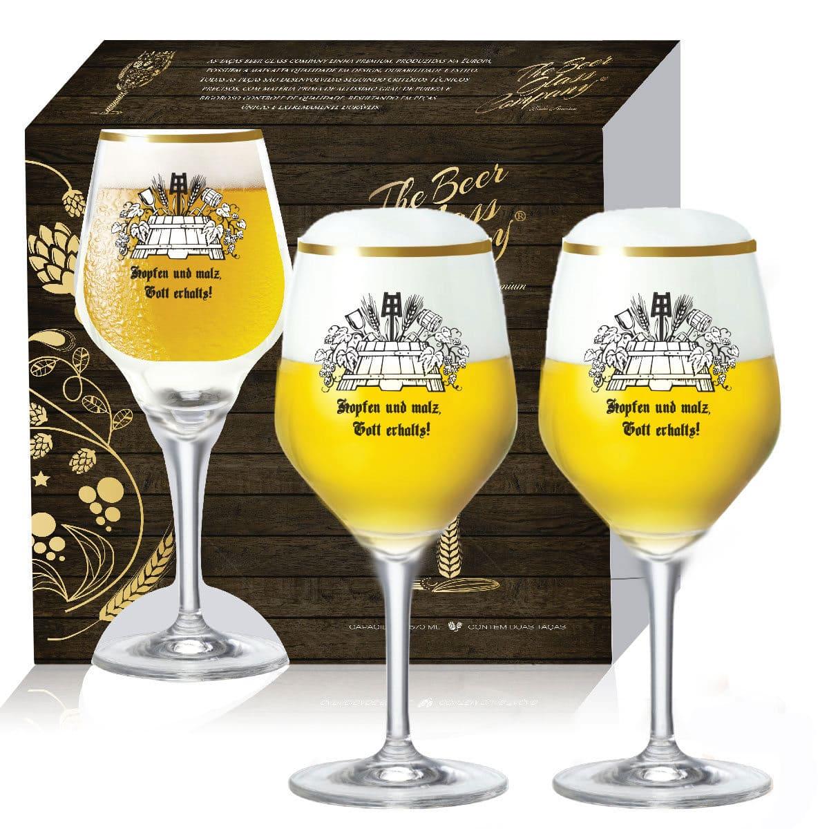 Jogo de Taças Mestre Cervejeiro Elegance 2 pçs 570ml