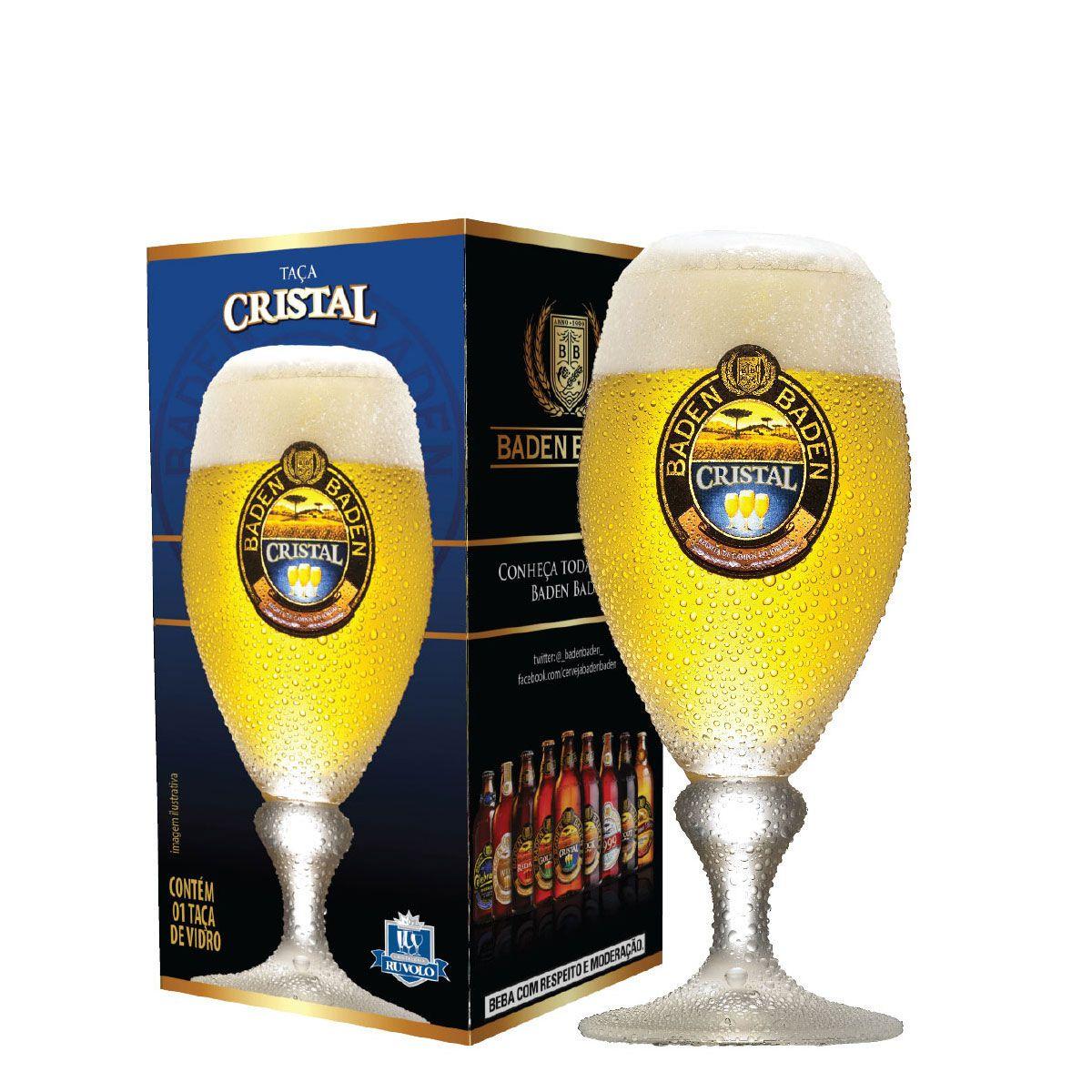 Jogo de Taças de Cerveja Baden Baden Cristal 400ml 4 Pcs