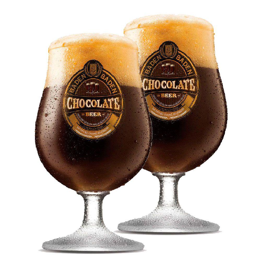 Jogo de Taças de Cerveja Cristal Baden Baden Chocolate 400ml 2 Pcs