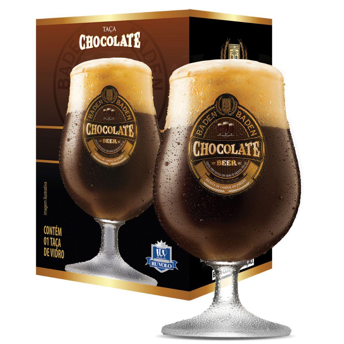 Jogo de Taças de Cerveja Cristal Baden Baden Chocolate 400ml 4 Pcs