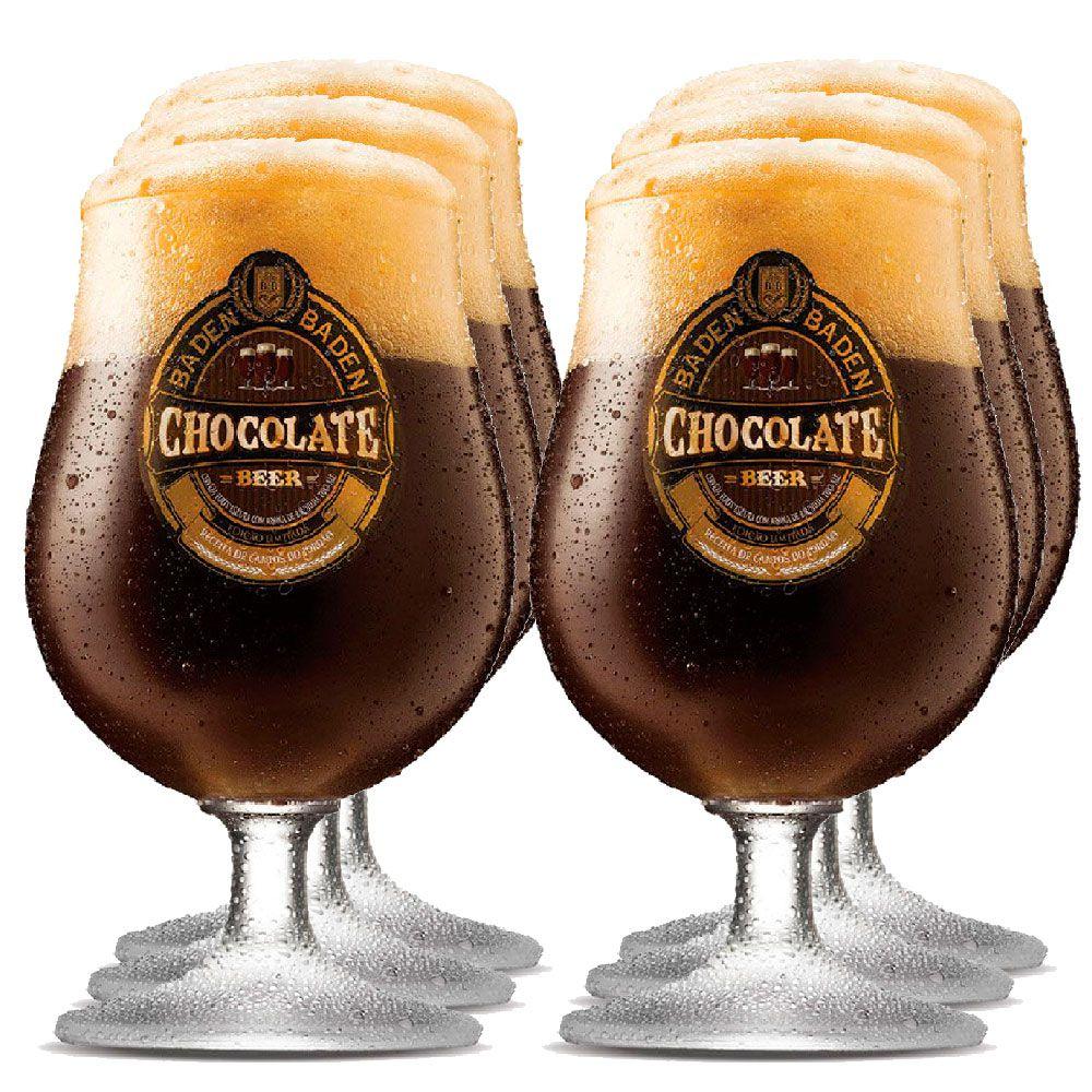 Jogo de Taças de Cerveja Cristal Baden Baden Chocolate 400ml 6 Pcs