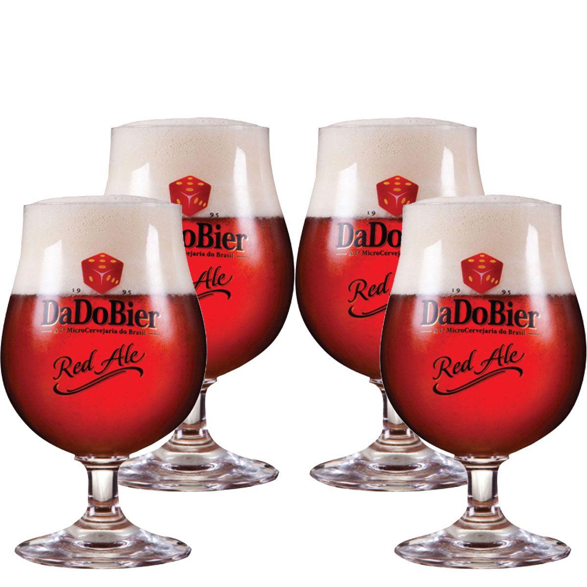Jogo de Taças de Cerveja Cristal Dado Bier Red Ale 400ml 4 Pcs