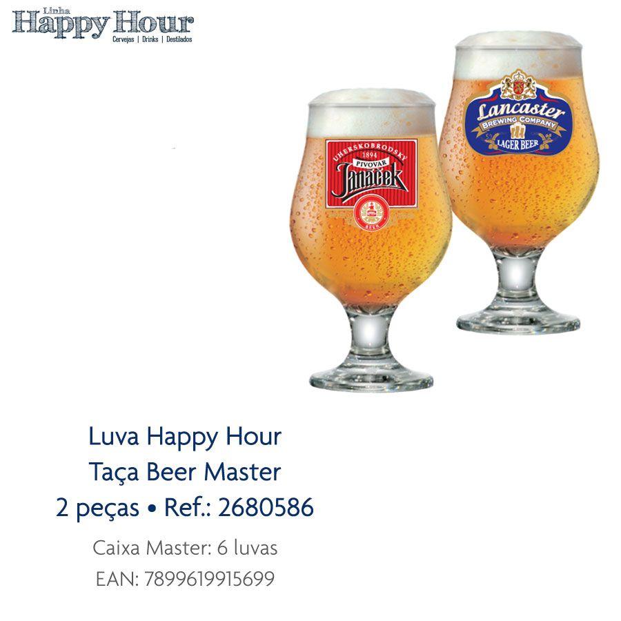 Jogo de Taças de Cerveja HH Beer Master 380 ml 2 Pcs