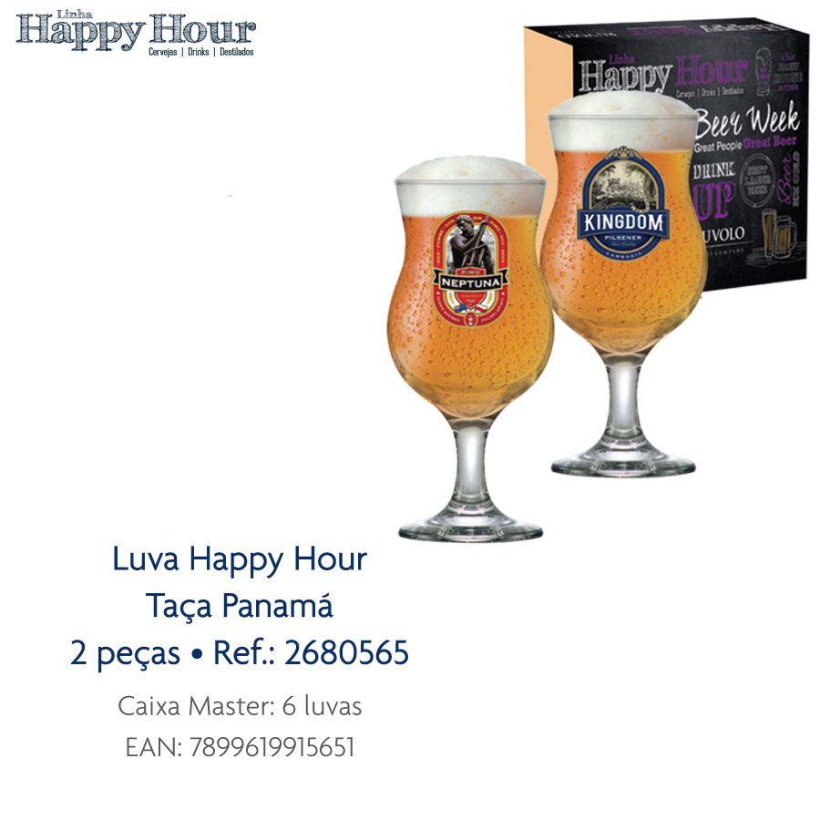 Jogo de Taças de Cerveja HH Panamá 400 ml Luva 2 Pcs