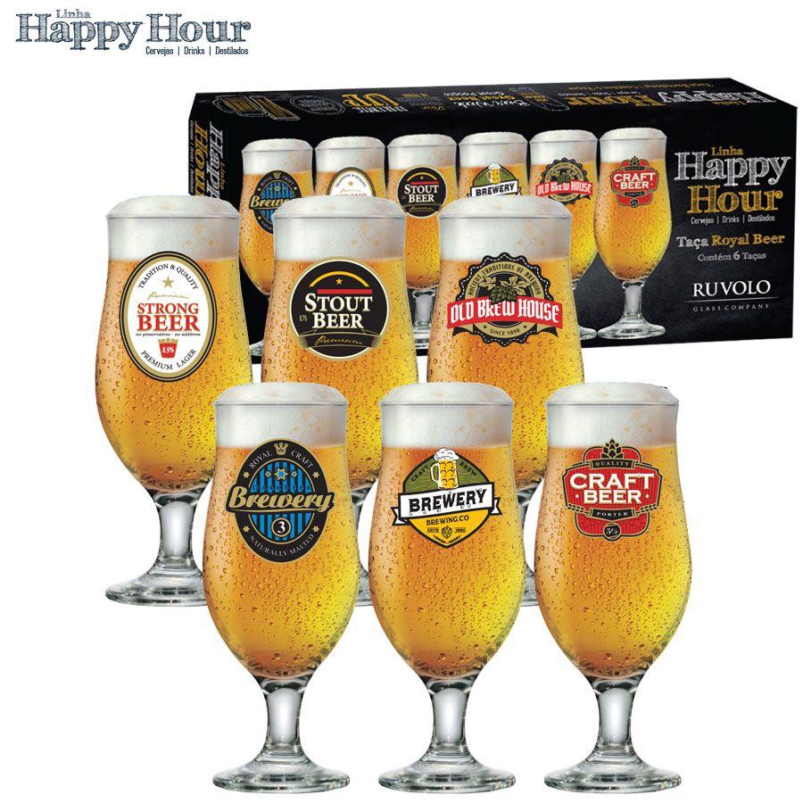 Jogo de Taças de Cerveja HH Royal Beer 320 ml 6 pcs