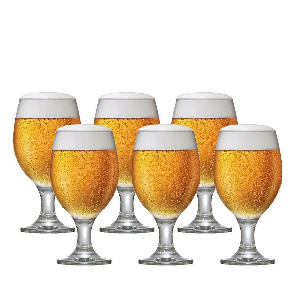 Jogo de Taças de Cerveja Roma Vidro 400ml 6 Pcs