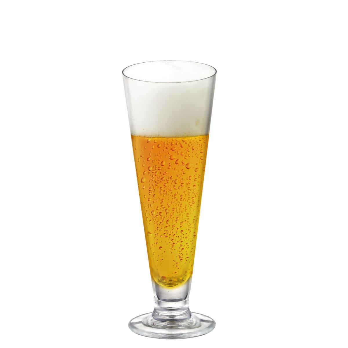 Jogo de Taças de Cerveja Tulipa Reta Cristal 300ml 12 Pcs