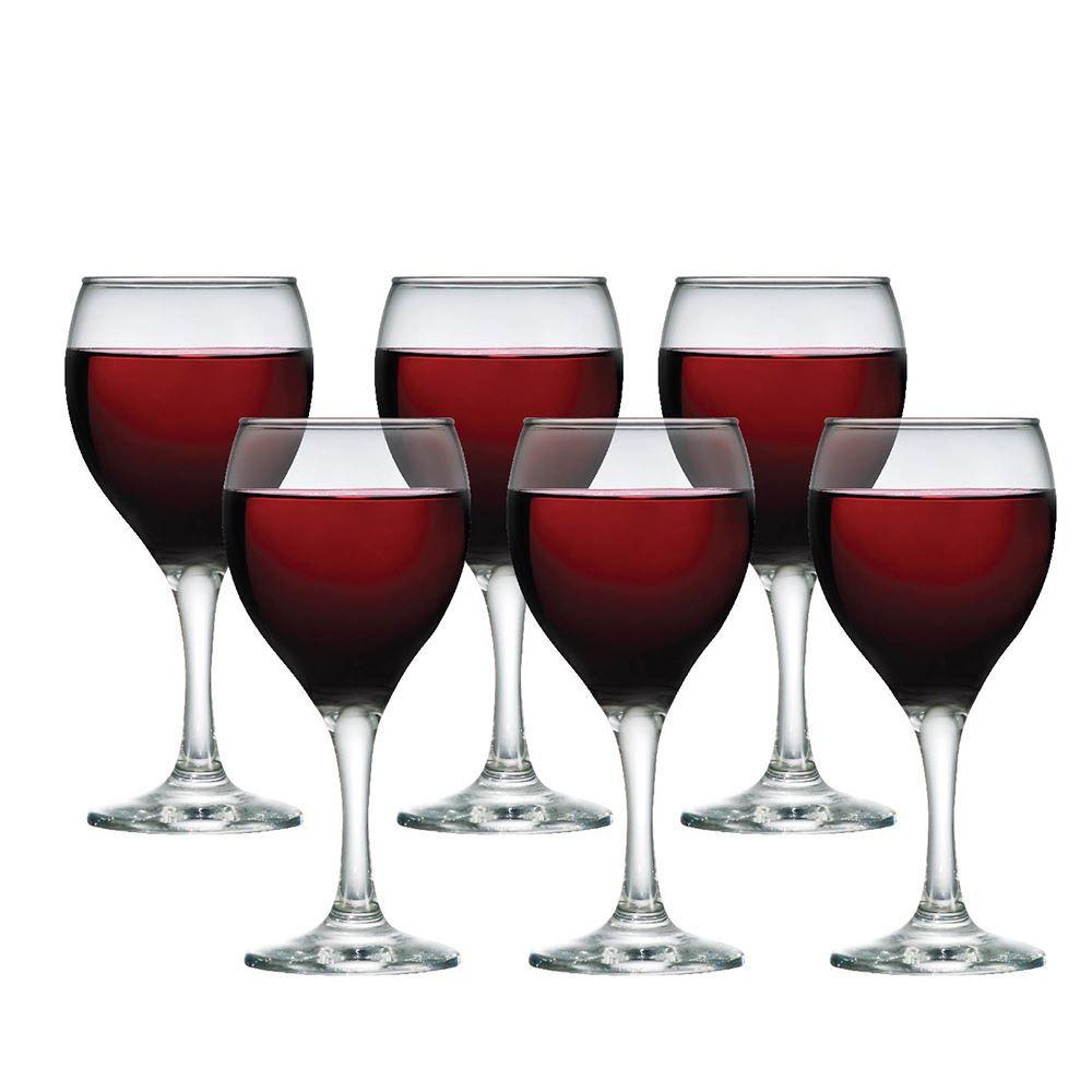Jogo de Taças de Vinho Tinto de Vidro Akron 335ml 6 Pc