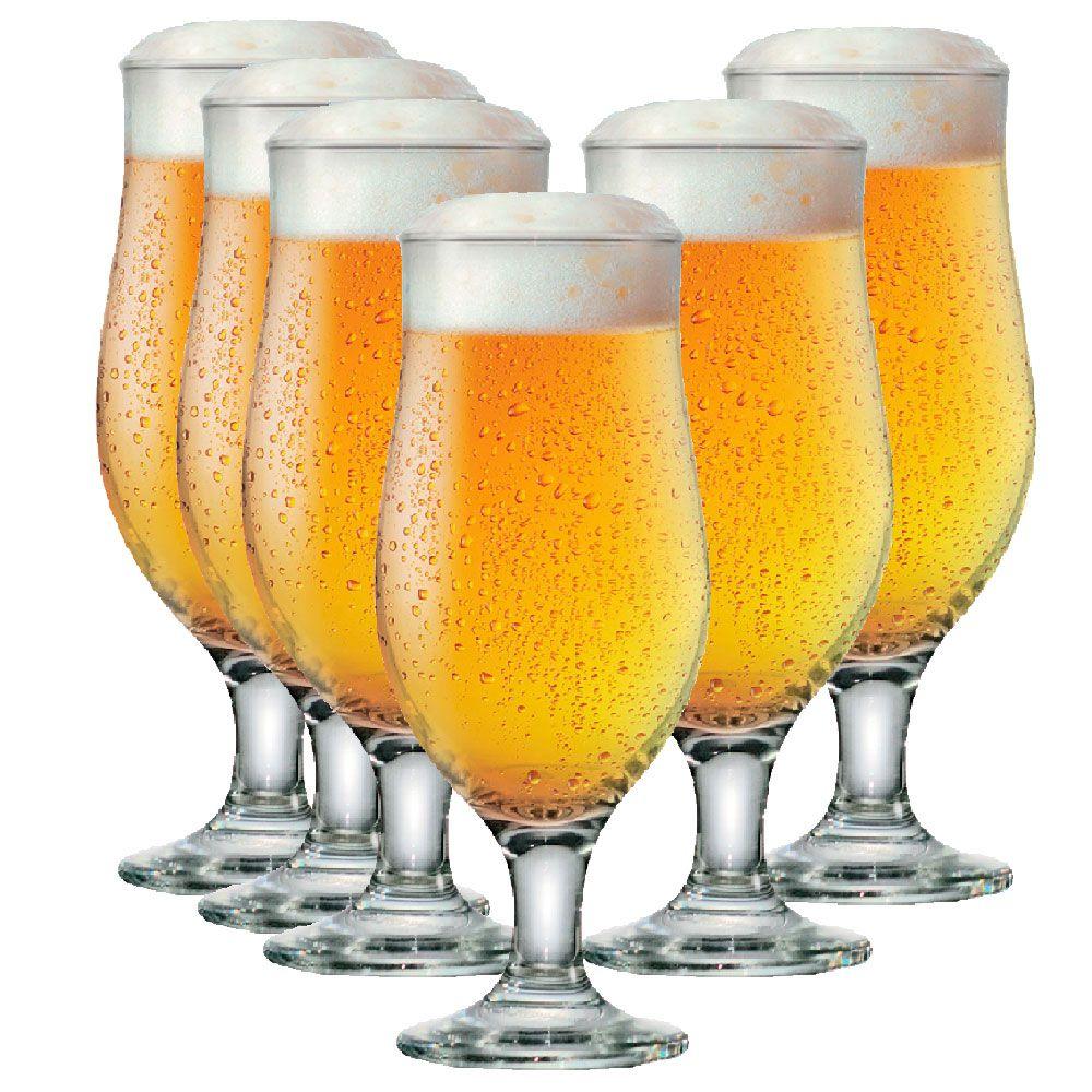 Jogo Taças Cerveja Conjunto Royal Beer 330ml Kit 6 Peças