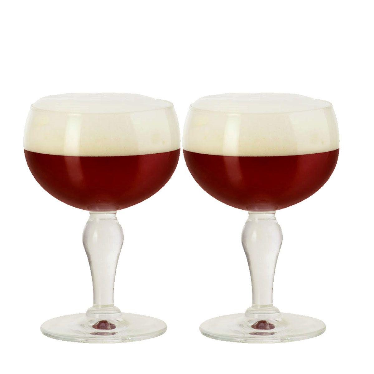 Kit Com 2 Taças De Cristal Para Cerveja Rochefort De 445ml